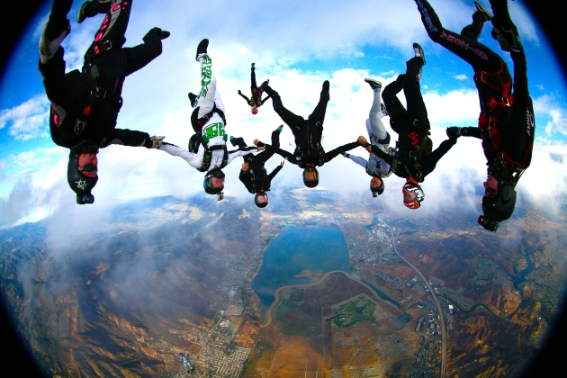 Mel-head-down-skydiving-group-pic