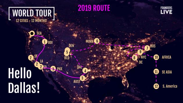 Tour Map - 2019